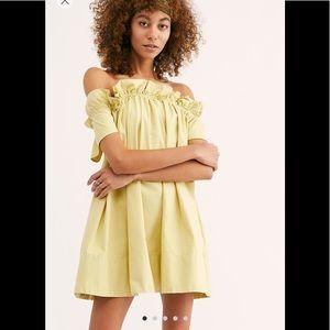 Free People Sophie dress. Celery. XL